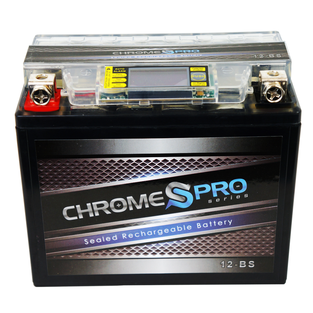 Chrome Battery YTX12-BS iGel Motorcycle Battery for Honda 750cc VF750C C2 D Magna 1999 at Sears.com