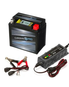 YTX5L-BS iGel Powersport Battery with 1 amp Smart Battery Charger- Bundle of 2 items