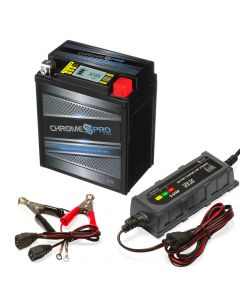 YTX7L-BS iGel Powersport Battery with 1 amp Smart Battery Charger- Bundle of 2 items