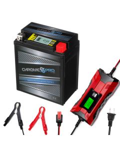 YTX7L-BS iGel powersport battery with 2/4 amp smart battery charger- Bundle of 2 items