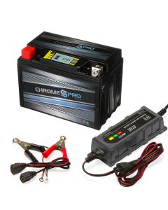 YTX9-BS iGel Powersport Battery with 1 amp Smart Battery Charger- Bundle of 2 items