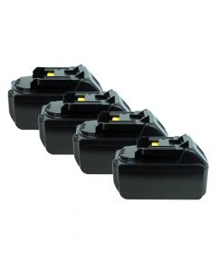 Lithium Drill Pack Replacement Battery for Makita Drill 18 Volt 3000mAh- 4PK