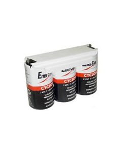 0810-0102 Enersys Cyclon Battery - 6 Volt 2.5AH - w/Tabs by Chrome Battery