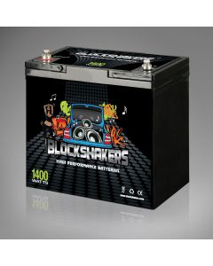 12V 55AH (1400 Watts) High Performance Car Stereo Battery - Black Label