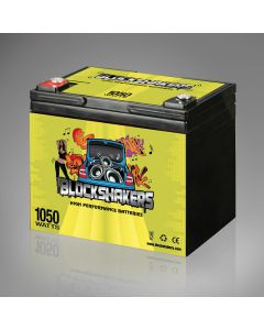 12V 35AH (1050 Watts) High Performance Car Stereo Battery - Green Label