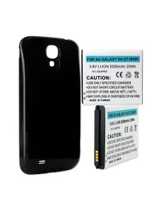 Cellular Phone Replacement Battery for Samsung Galaxy S4 5.2Ah Extended NFC with Black Cover