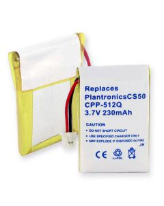 Cellular Phone Replacement Battery for Plantronics CS-50/55/60 Li-POL 230mAh