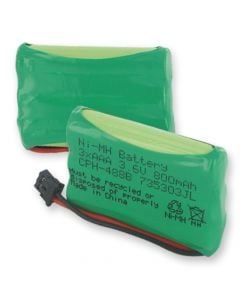 Cordless Phone Battery replaces Universal 3.6V 2.88W