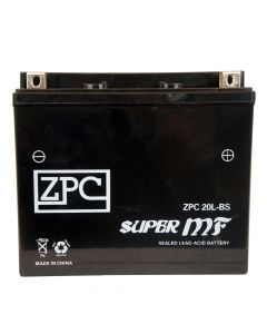 ZPC YTX20L-BS High Performance AGM Power Sports Battery- View 1