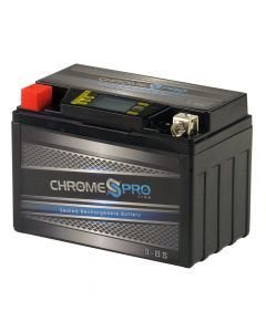 YTX9-BS Chrome Pro Series iGel Battery- View 1