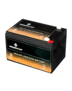 12V 15AH Sealed Lead Acid (SLA) Battery - T2 Terminals- View 1