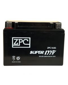 ZPC YTX9-BS High Performance AGM Power Sports Battery- View 1