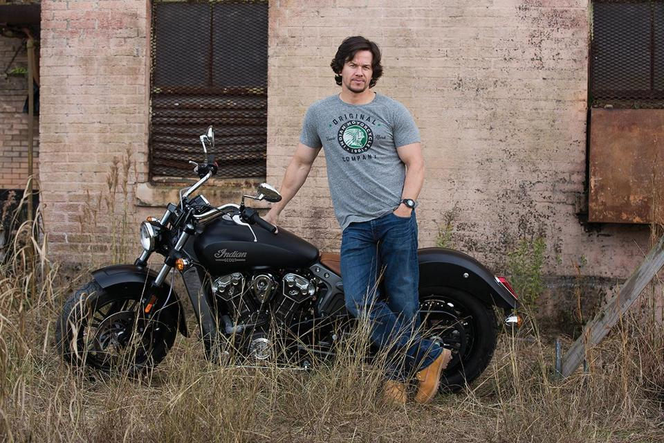 Mark Wahlberg is selling apparel with Indian Motorcycle.